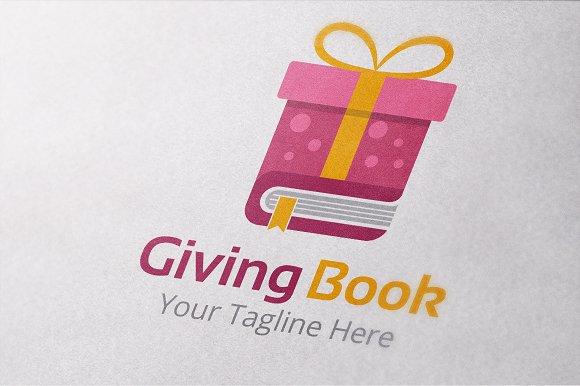 Giving Book Logo Template