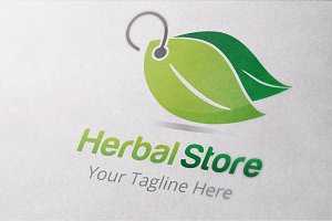 Herbal Store Logo Template