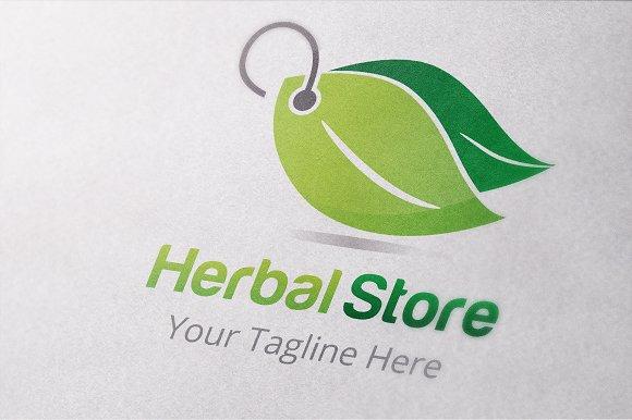 Herbal Store Logo Template