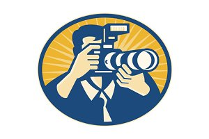 Photographer DSLR Camera Shooting