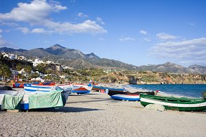 Fishing Boats on Nerja Beach