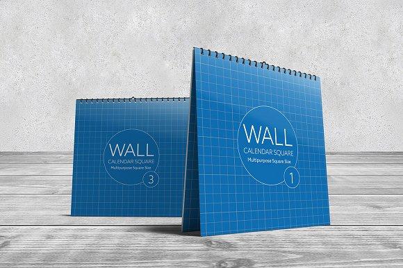 wall calendar square mock ups product mockups creative market