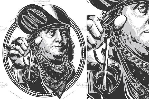 Benjamin Franklin bundle. 7 in1 - Illustrations