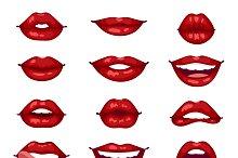 Female lips isolated vector