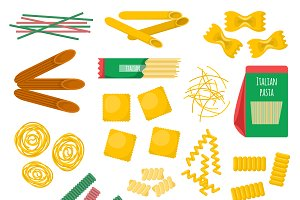 Pasta products vector