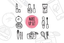 8 Doodle Icons. Make up