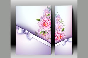 Spring flowers invitation card