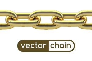 Seamless Golden Chain