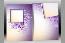 Spring flowers invitation card