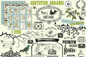 Certified Organic Clipart & Brushes