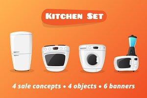 Kitchen Electronics Set