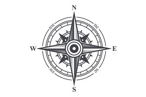 Wind Rose or Compass Icon