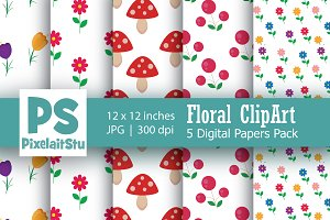 Floral Pattern digital paper