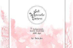 Soft Watercolor Ombre Paper