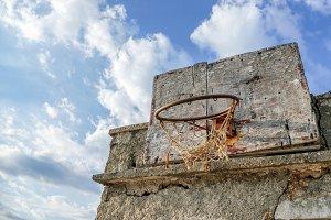 Old Handmade basketball board