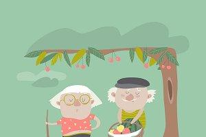 Adult gardener family