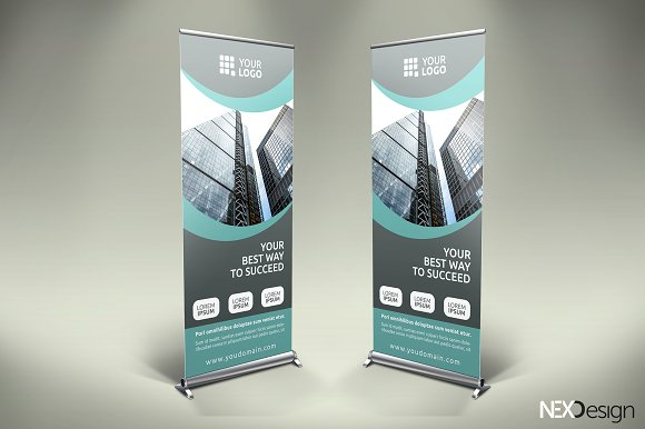 Business roll up banner sb presentation templates creative market wajeb Gallery
