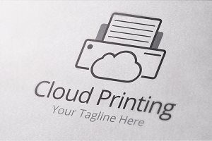 Cloud Printing Logo Template