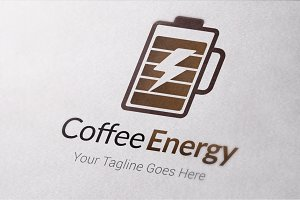 Coffee Energy Logo Template