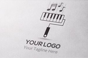 Music Painting Logo Template