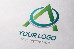 Letter A Unite Logo Template