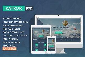 Katror | One Page Multi-purpose PSD