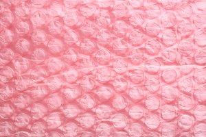 Pink air bubble sheet