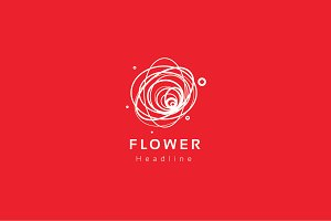 Flower logo template.
