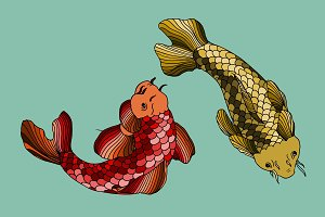 Red and Gold carps