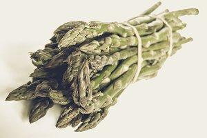 Asparagus picture vintage desaturated