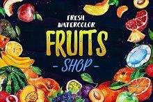 Fresh Watercolor Fruits Shop