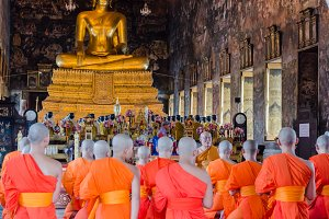 Thai Monks in Buddhism Church