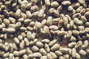 Crimson beans vegetables background vintage desaturated