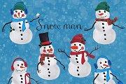 Snowman clip art mix&match
