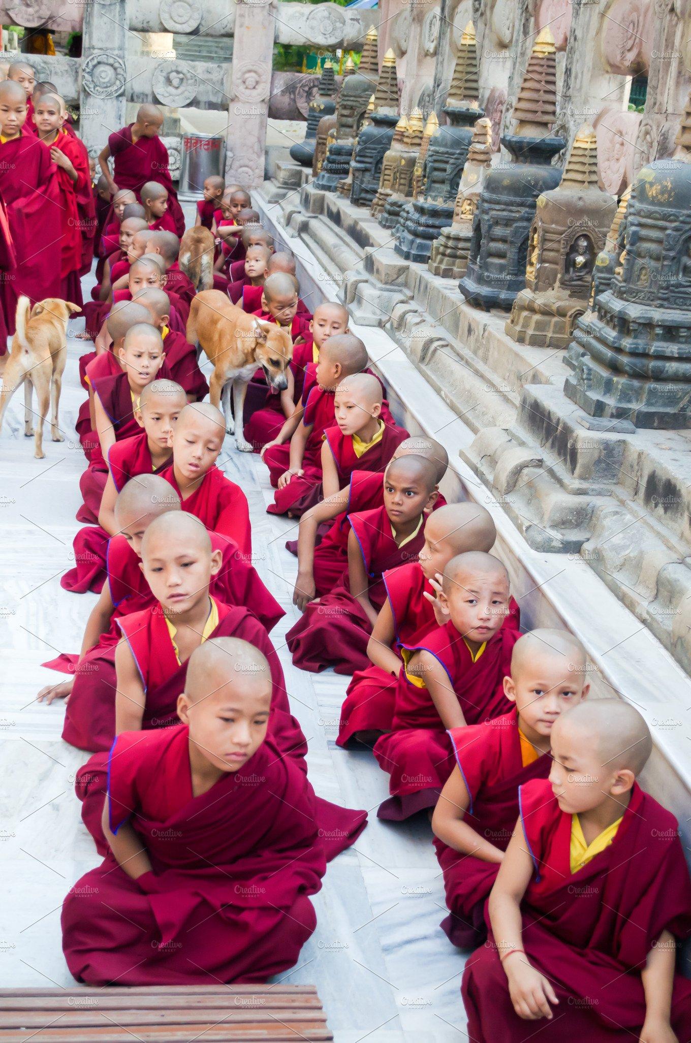 Tibet Novice Monks in India ~ People Photos ~ Creative Market