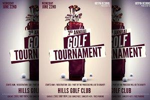 Golf flyer Photos, Graphics, Fonts, Themes, Templates