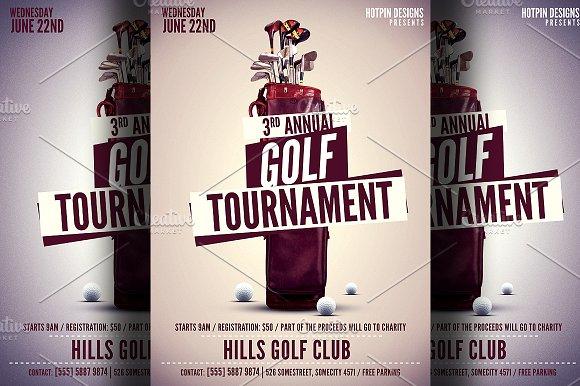golf tournament flyer template flyer templates creative market