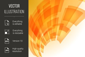 Abstract orange digital background