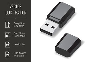 USB flash drive.