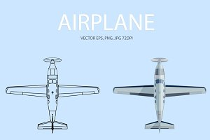 Airplane. Vector, JPG, PNG