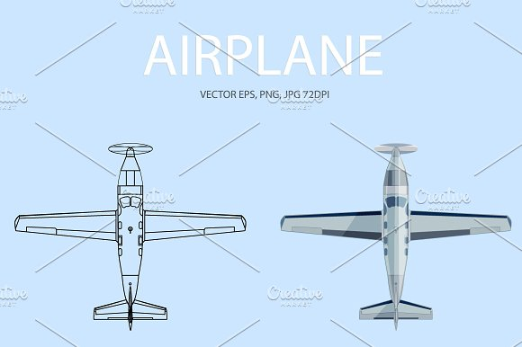 Airplane. Vector, JPG, PNG - Illustrations