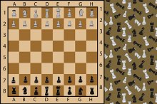 Chess board. Seamless pattern.