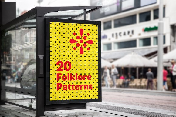 Folklore Patterns & Elements + Font in Patterns - product preview 7