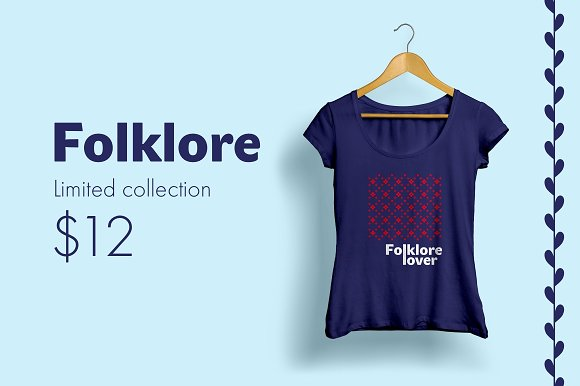 Folklore Patterns & Elements + Font in Patterns - product preview 3