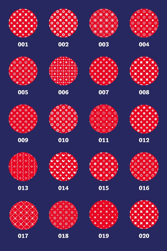 Folklore Patterns & Elements + Font in Patterns - product preview 2