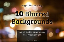 Blurred Background Night in the City