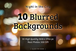 City Lights | 10 Bokeh Backgrounds