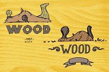 Wood master logo. Vector