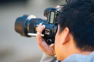Smoking Photographer