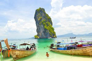 Beach on summer in Krabi,Thailand